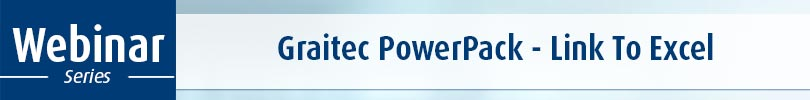 Graitec Powerpack Webinar Series Link To Excel